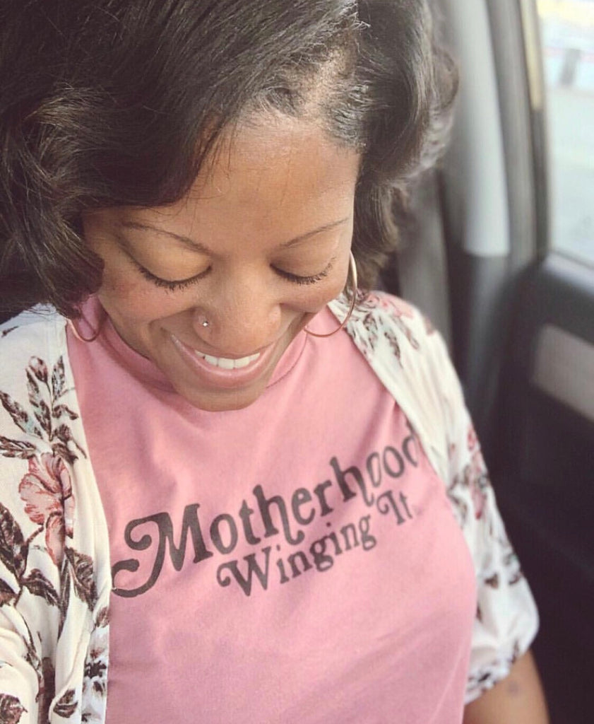 """Motherhood Winging It®"" Tee"