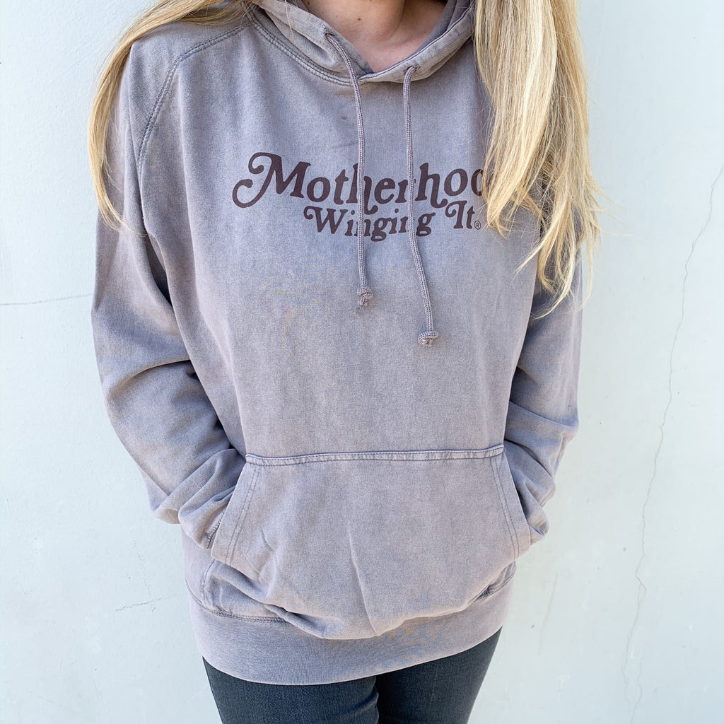 "Motherhood Winging it®"" Vintage Hoodie"