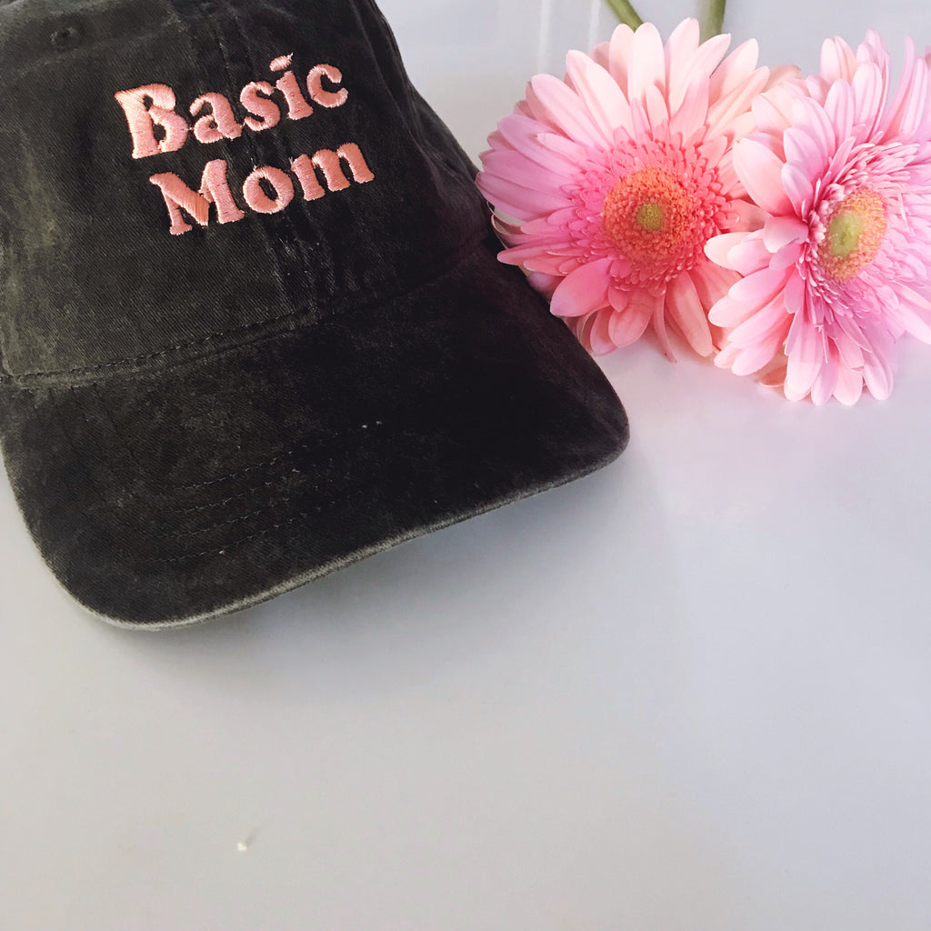 """Basic Mom©"" Embroidered Cap"