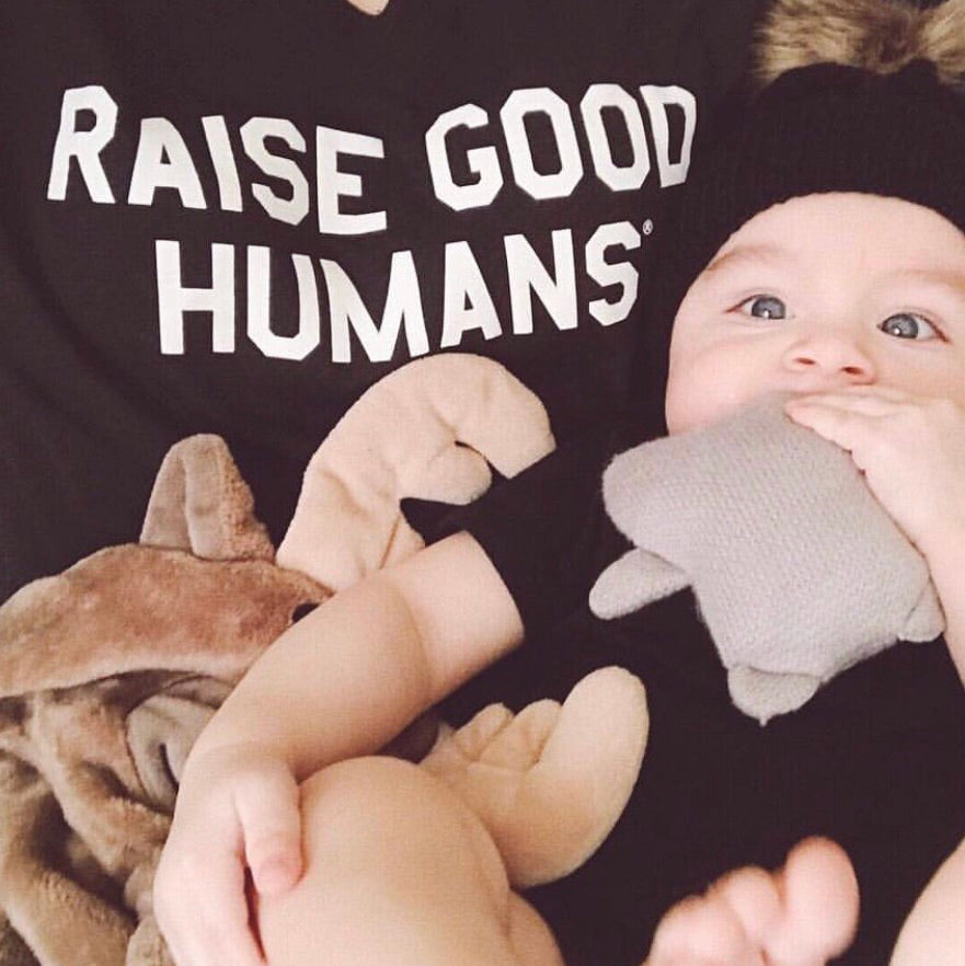 """RAISE GOOD HUMANS®"" V-Neck Tri-blend Tee"
