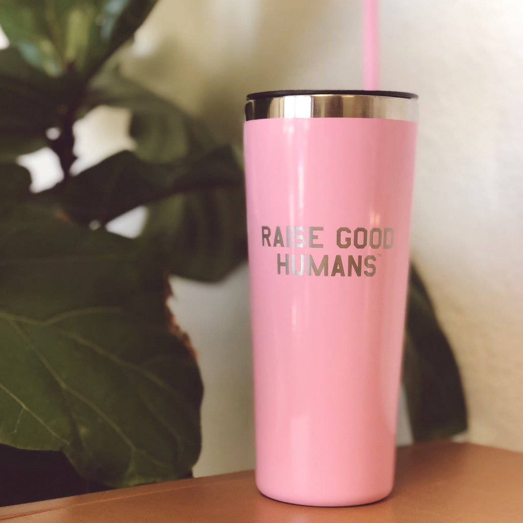 """RAISE GOOD HUMANS®"" 22oz. Roadie Tumbler 
