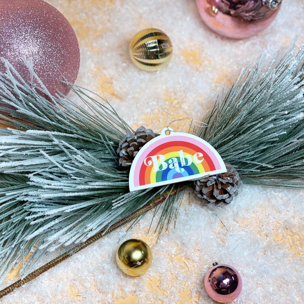 """Rainbow Babe©"" Baby's First Ornament"