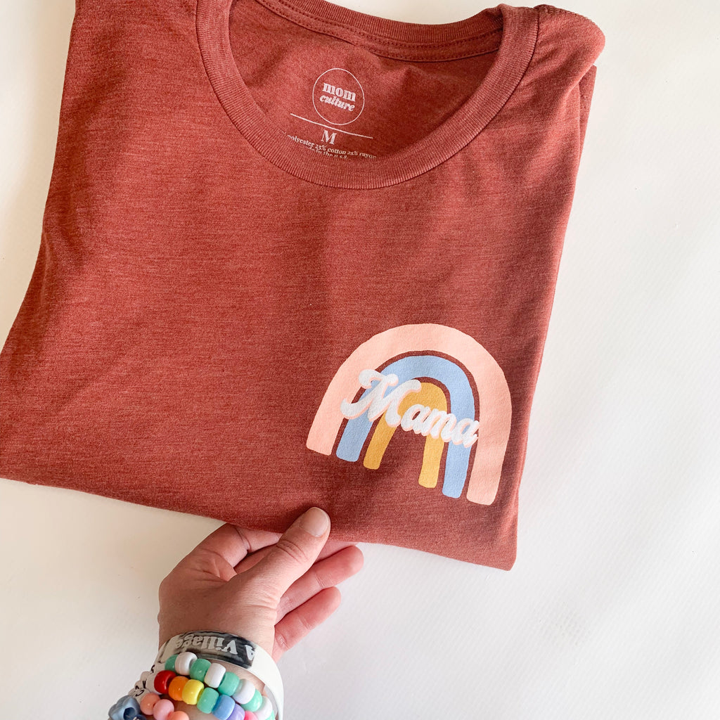 """RAINBOW MAMA"" Modern Tri-blend Tee 