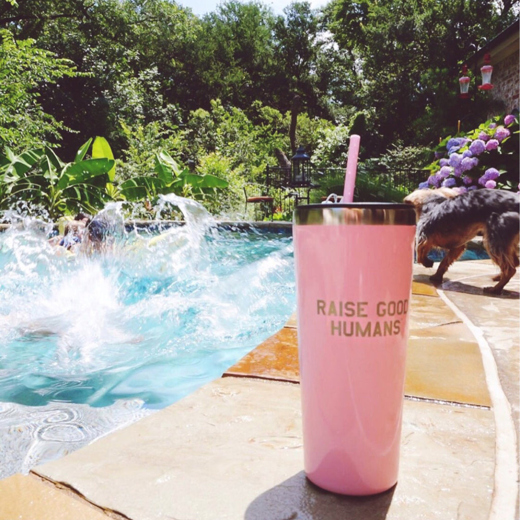 """RAISE GOOD HUMANS®"" 22oz. Roadie Tumbler"