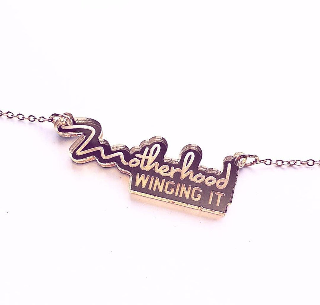 """Motherhood Winging It®"" Necklace PREORDER"