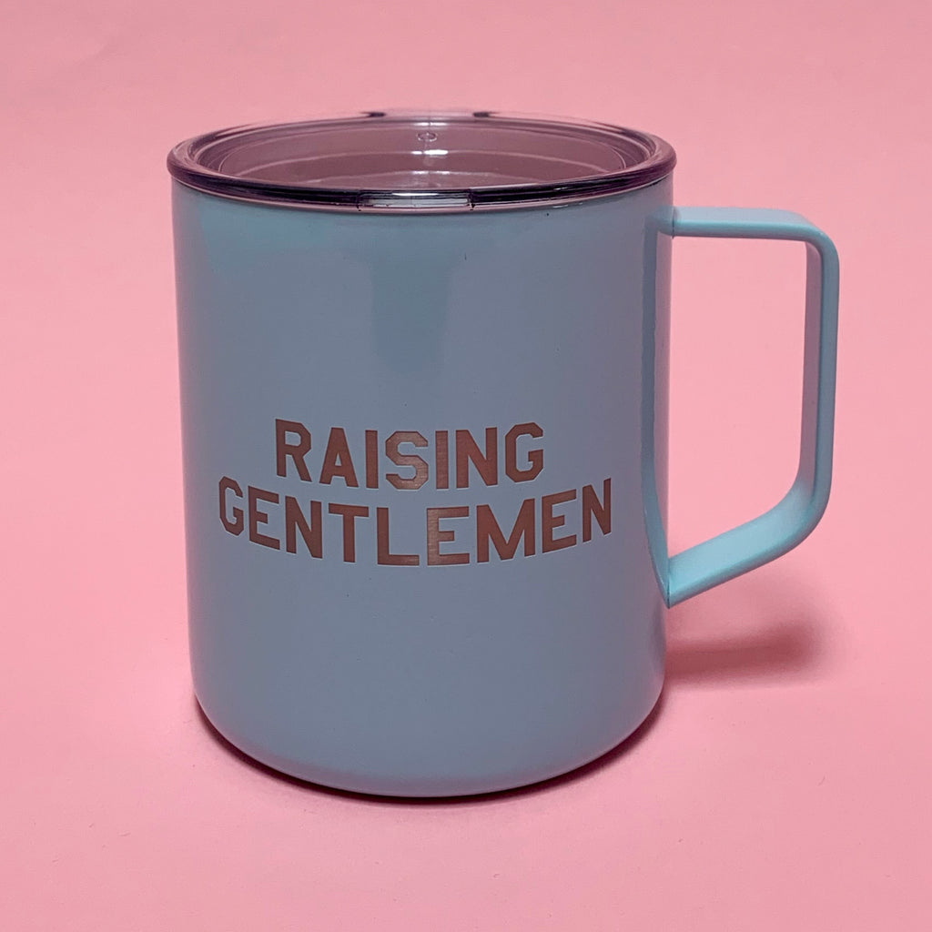 """RAISING GENTLEMEN©"" 14 oz Stainless Steel Mug"