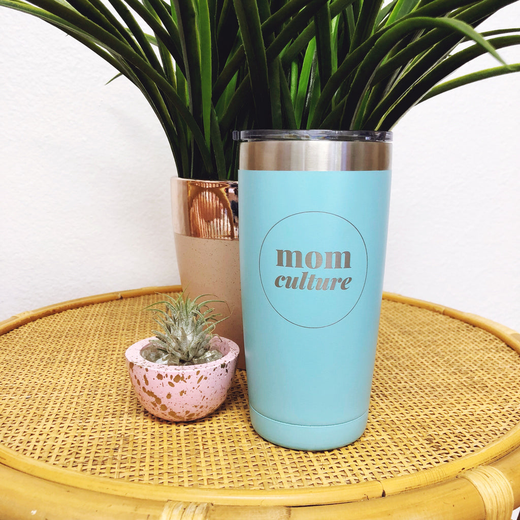 """BASIC MOM©"" Stainless Steel Tumbler"