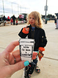 """Raising Tiny Humans is Exhausting®"" Keychain"