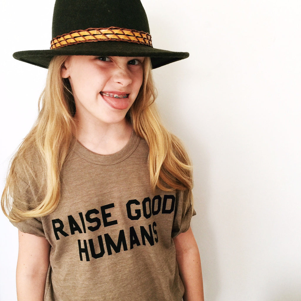 """RAISE GOOD HUMANS®"" Crew Tee"