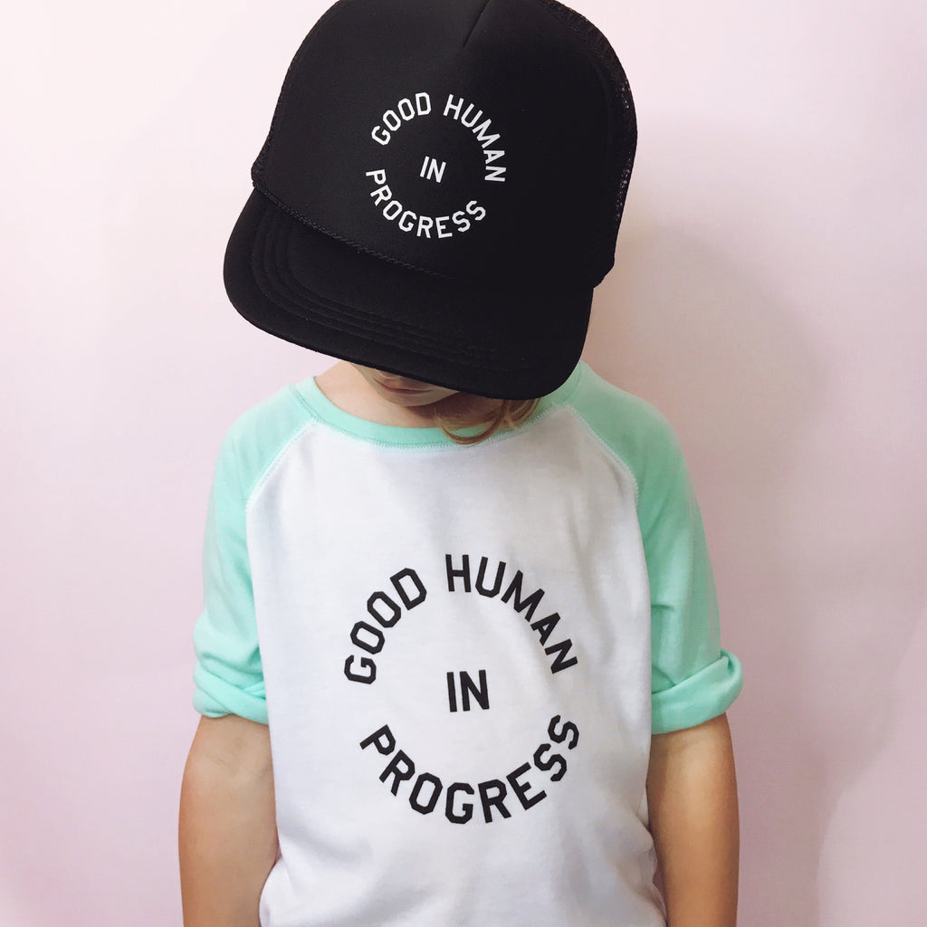 """Good Human In Progress©"" Raglan T-Shirt"