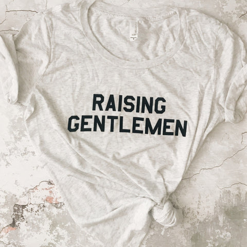 """RAISING GENTLEMEN"" Scoop Tee"