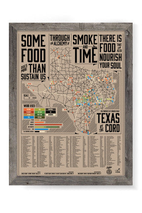 Texas BBQ Poster - Prophets of Smoked Meat - Signed by Daniel Vaughn & M Brady Clark