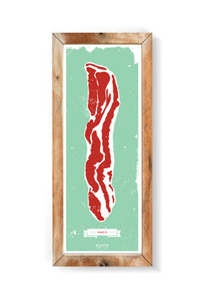 BACON (Amen) 9x24 Print
