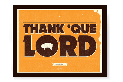 Thank 'Que Lord | 24x18