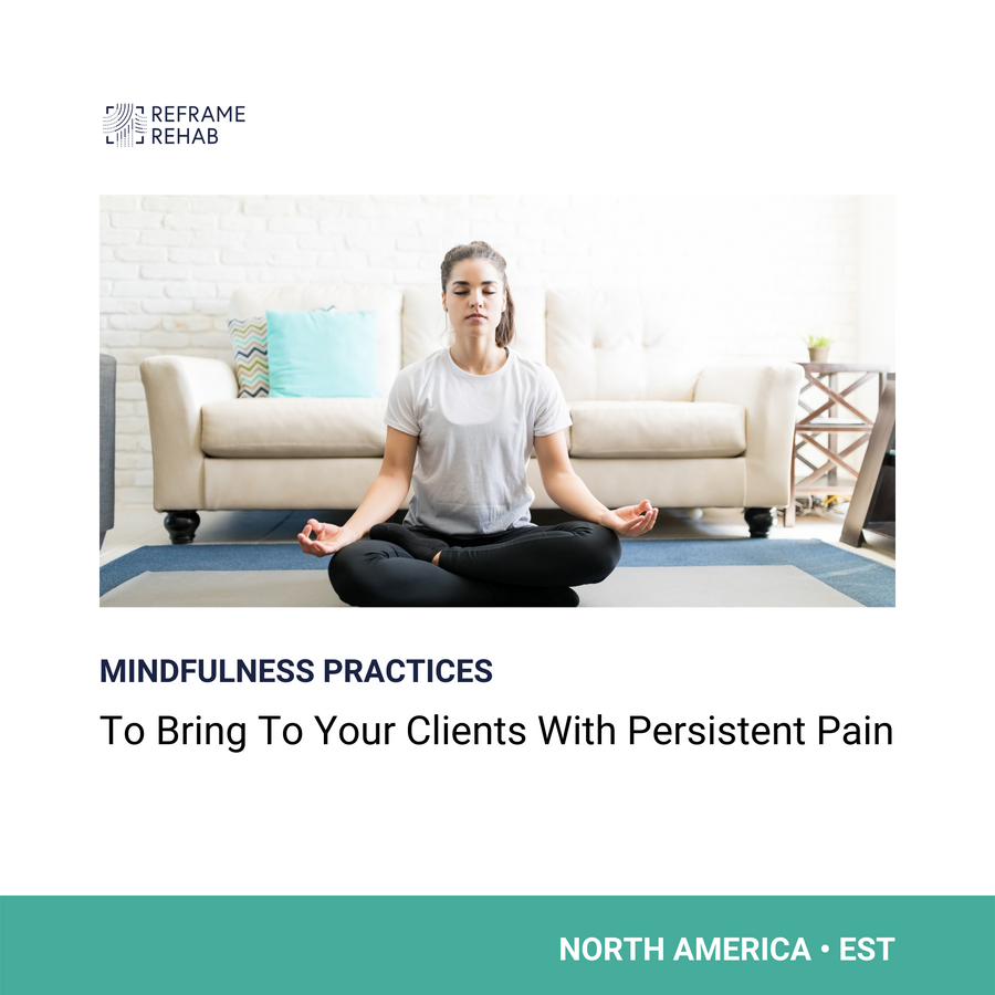 Mindfulness Practices to Bring to Your Clients with Persistent Pain (North America - EST - May 31)