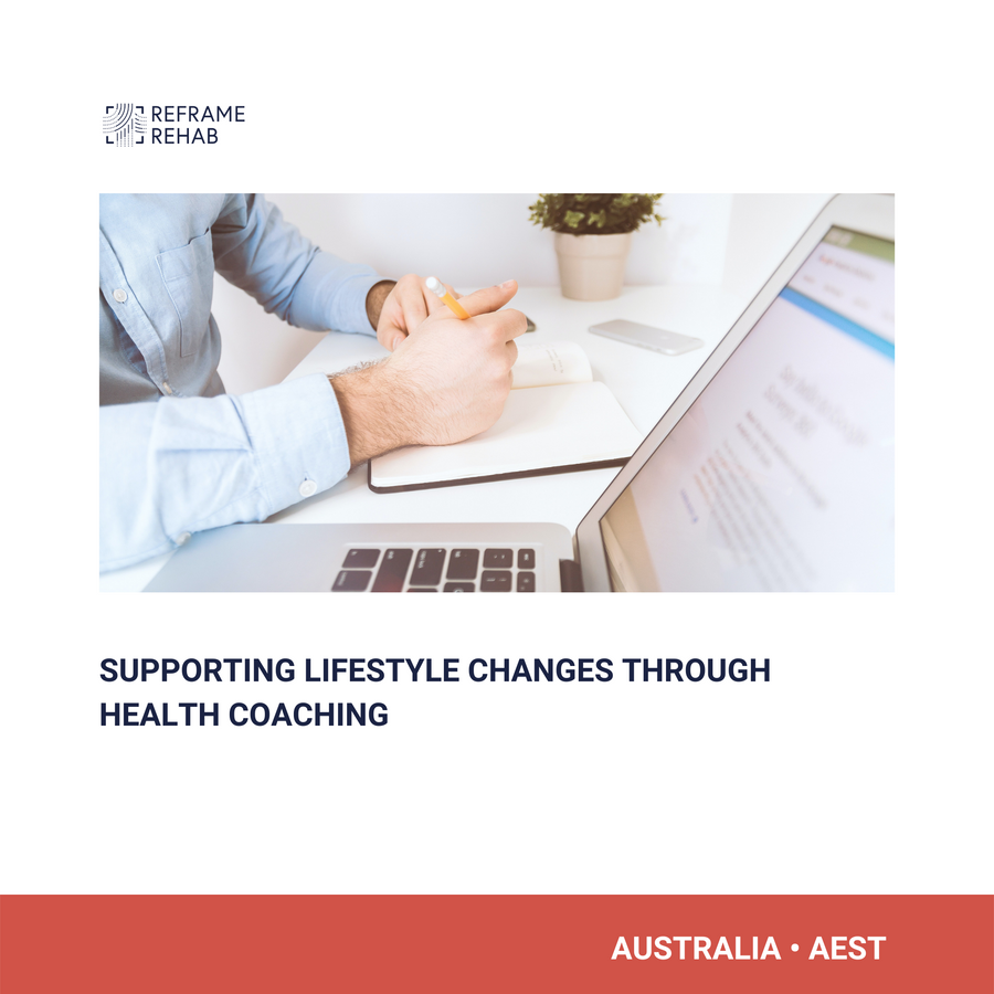 Supporting Lifestyle Changes through Health Coaching (North America - November 19 & Australia - November 20)