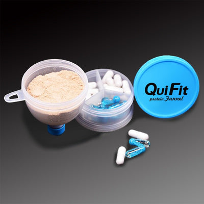2 Layers Protein Powder Container Pillbox