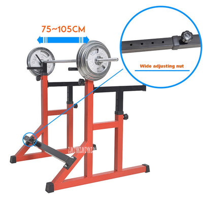 Adjustable Integrated Weight Lifting Barbell Rack
