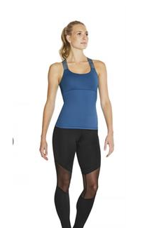 Bloch: Stripe Elastic X-Back Top
