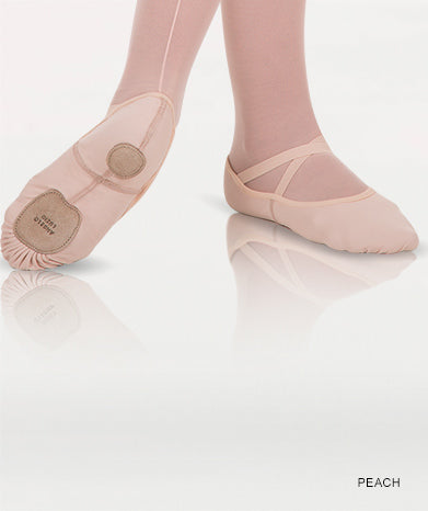 Body Wrappers: Ballet Shoe, Split-Sole, Total Stretch (#248A) Peach