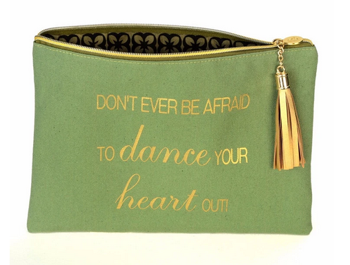 B Plus: Canvas Cosmetic Bag, Dance Your Heart Out