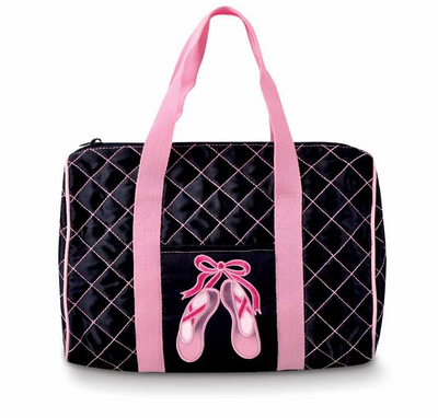 Danshuz: Black Quilted En Pointe Duffel