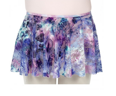 Dasha: Feather-Dyed Pull On Skirt