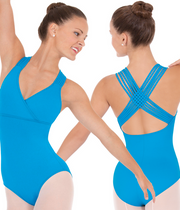 Eurotard: Woven Lattice Back Leotard (#4493)