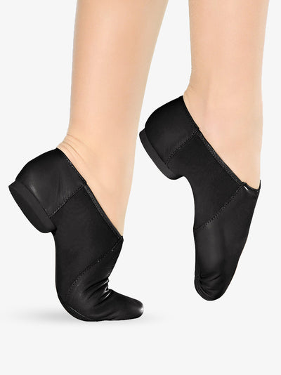 So Danca: Jazz Shoe, Slip-On, Leather, Janus (#JZ43/#JZ45) Black