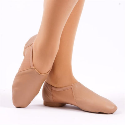 So Danca: Jazz Shoe, Slip-On, Leather, Janus (#JZ43/#JZ45) Caramel