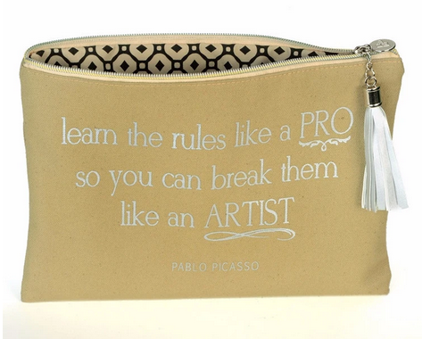B Plus: Canvas Cosmetic Bag, Pablo Picasso
