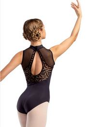 So Danca: Mock Neck Mesh Back Leotard, Anabelle