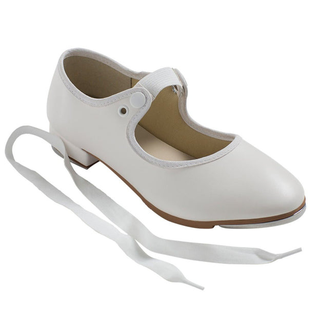 So Danca: Tap Shoe, Classic Tie (#TA35) White