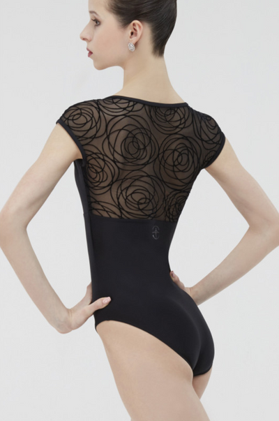 Wear Moi: Cap Sleeve Mesh Leotard, the Grenat