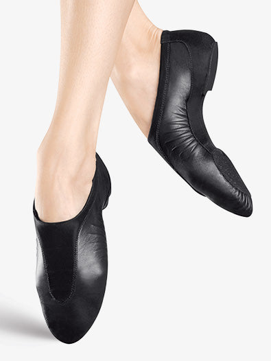 Bloch: Jazz Shoe, Slip-on, Leather, Pulse (#S0470G/#S0470L) Black