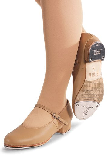 Bloch: Tap Shoe, Buckle, Tap-On (#S0302G/#S0302L) Tan