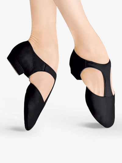 Bloch: Jazz Shoe, Slip-on, Elastosplit Grecian (#ES0410L) Black