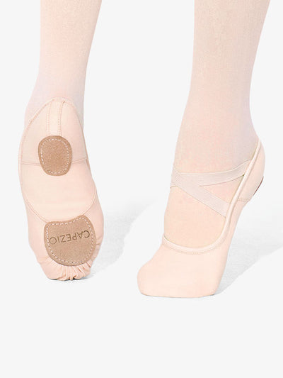 Capezio: Ballet Shoe, Split-Sole, Canvas, Hanami (#2037W) Light Pink