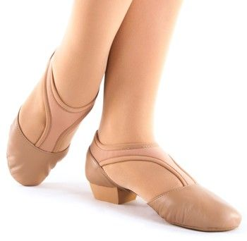 Danshuz: Jazz Shoe, Slip-on, Ultimate Grecian (#6515) Bella Tan