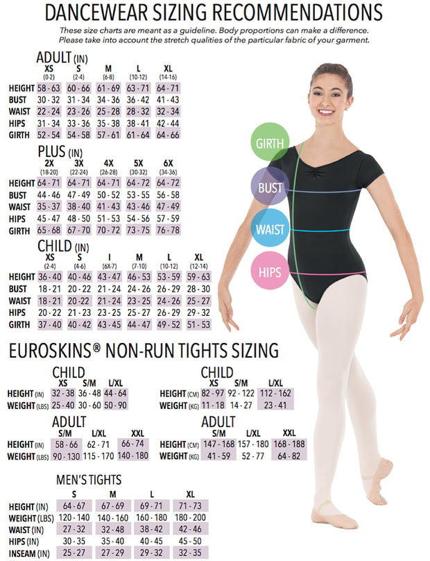 Eurotard: Long Sleeve with Double Skirt Dance Dress (#10465)