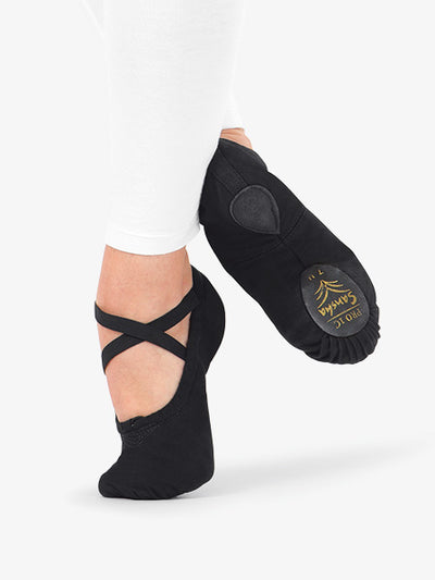 Sansha: Ballet Shoe, Split-Sole, Canvas (#Pro1C) Black