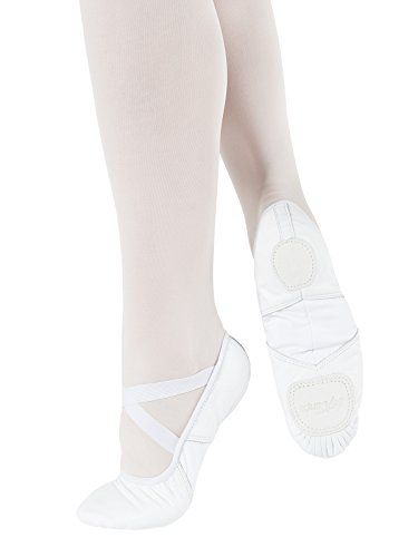 So Danca: Ballet Shoe, Split-Sole, Leather Hybrid (#SD110) White