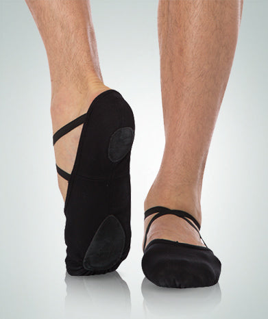 Body Wrappers: Ballet Shoe, Split-Sole, Canvas (#246A) Black