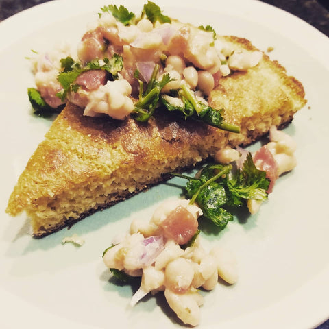 Scratch Cornbread and Navy Bean Salad