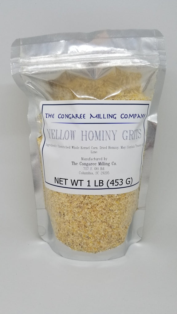 Organic Yellow Hominy Grits 1 Pound Bag