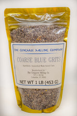 Organic Coarse Blue Grits 1 Pound Bag