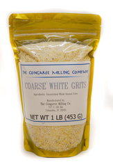 Coarse White Grits One Pound Bag