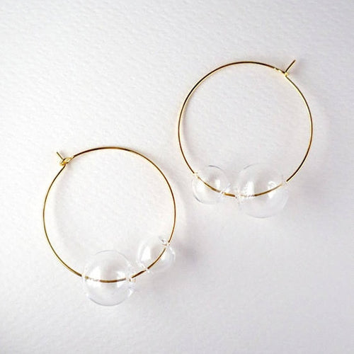 Big Ball Circle Earrings