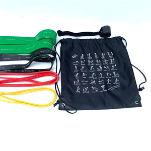 3x workout band set, T-band + A-band + P-band + Xband + door anchor +Free gift carry bag. (in USD)