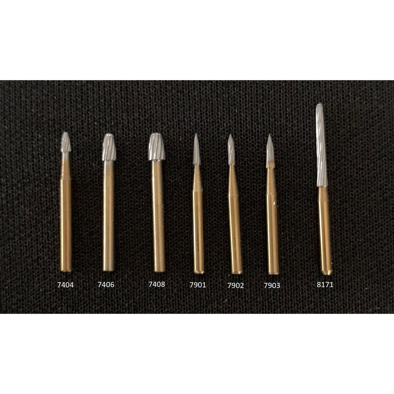 Fluted Carbide Finishing Burs (FG, Pack of 10)